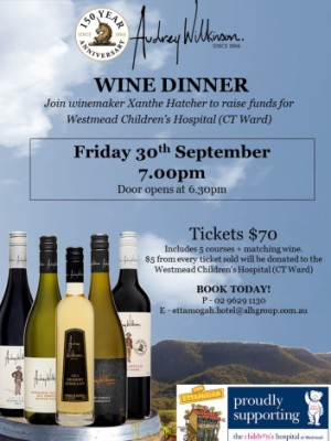 Audrey Wilkinson Wine Dinner