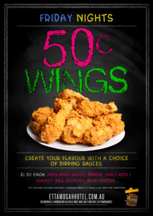 Friday 50c WIngs