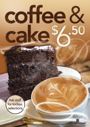 $6.50 Coffee & Cake