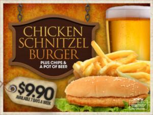 Every Day $9.90 Chicken Burger