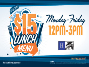 $15 Lunch Menu