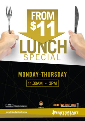 Monday - Thursday From $11 Lunch Specials
