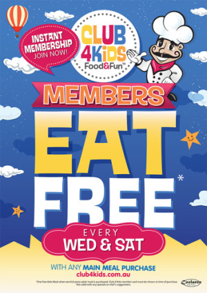 Club 4 Kids Members Eat Free