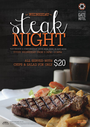 Wednesday $20 Steak Night