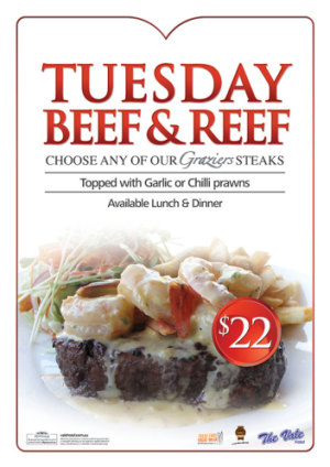 Tuesday $22 Beef & Reef