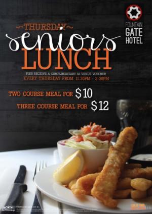Thursday Senior's Lunch Special