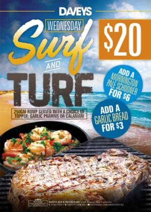 Wednesday $20 Surf & Turf