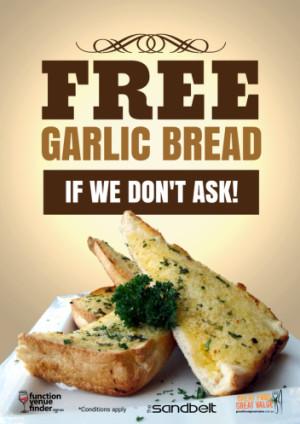 Free Garlic Bread