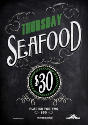 Thursday $30 Seafood Platter