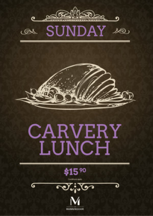 Sunday $15.90 Carvery Lunch