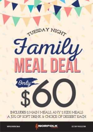 Tuesday $60 Family Meal Deal