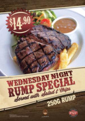 Wednesdays $14.90 Rump Special