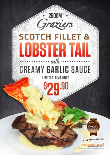 Graziers Scotch Fillet & Lobster Tail